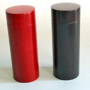 スリム茶筒 【送料無料】 木製 漆塗り