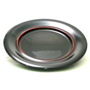 パーティー皿  黒朱線入 【送料無料】数量限定 特別価格 木製漆塗り 中皿