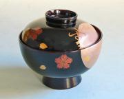 煮物椀 溜内朱 雪月花(製造中止) 木製 漆塗り