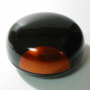盛器 日月白檀 【送料無料】 漆塗り 蓋付き鉢