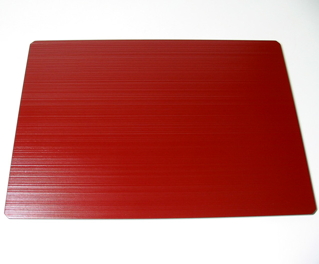 隅切りランチョンマット 線筋(製造中止) 木製