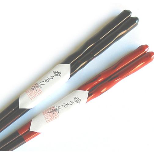 うるし箸 波影 【メール便可】 木製 漆塗り カトラリー