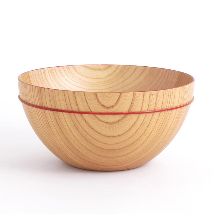 MOKUボウル D 赤ライン 木製