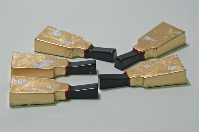 箸置き 羽子板金箔 (製造中止)