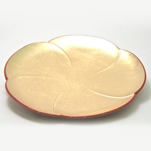 福梅皿 金箔 中皿