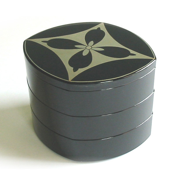 三段重箱 つぼみ七宝