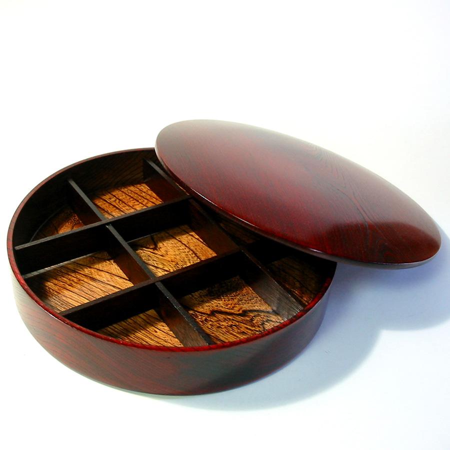 オードブル一段重 ひびき 【送料無料】 木製 漆塗りお重箱