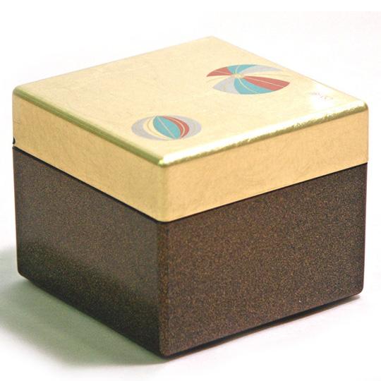 ピアスボックス 金箔手まり  【まとめ買い割引】  ジュエリーボックス・アクセサリーケース