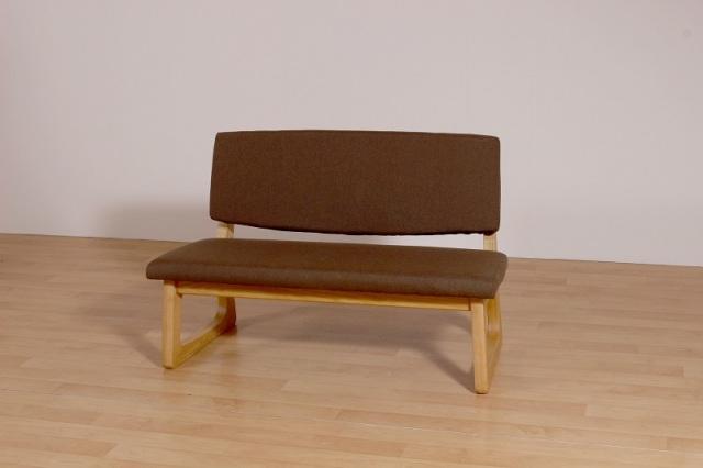 Pique-ピケ2P- ダイニングベンチ(背付) 木製 アッシュ材 二人掛け畳擦り 和室 ブラウン アウトレット 完成品 数量限定 送料無料
