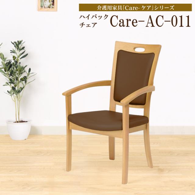 Care-AC-011 ダイニングチェア ハイバックチェア 次亜塩素酸対応 介護 高齢者 肘付き 完成品
