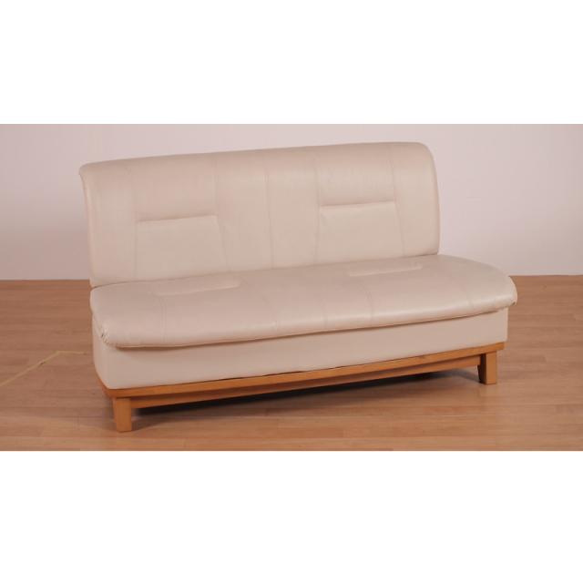 Concier-コンシェル2P- ダイニングソファー 二人掛け ラバーウッド ライトブラウン PVC 数量限定 送料無料
