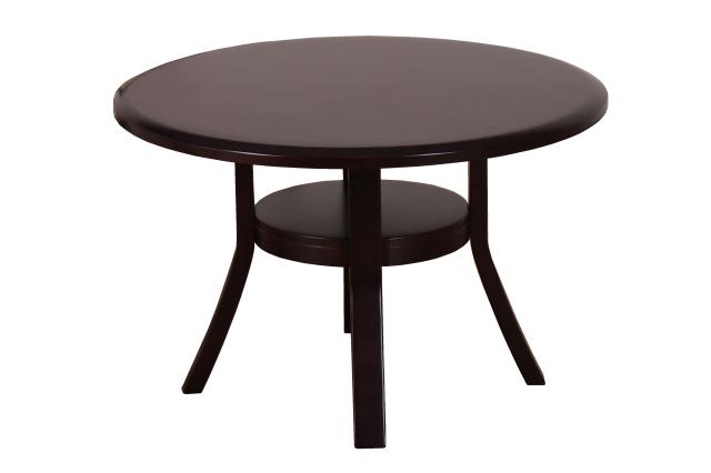 Coupe-クーペDB-ダイニングテーブル ラバーウッド材 ダークブラウン 円型  数量限定 送料無料
