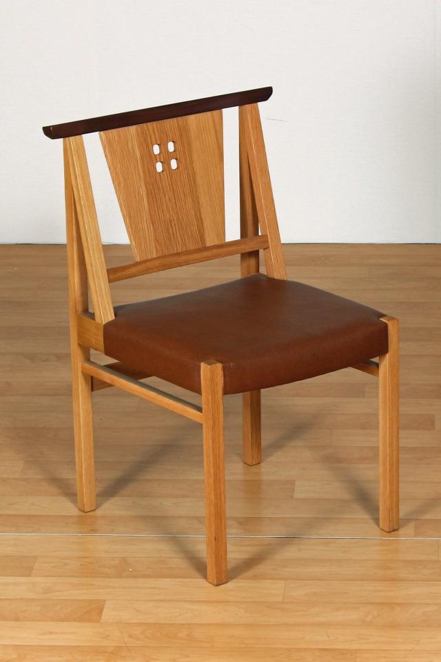 OAK-オーク- ローレル ダイニングチェア 木製 オーク材 PVC ブラウン 数量限定 アウトレット 送料無料