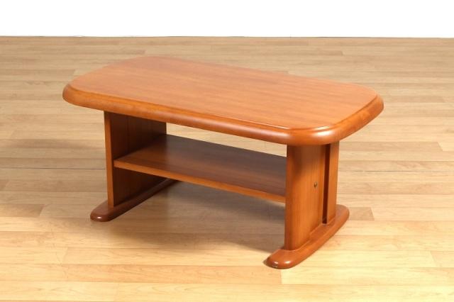 Sadi-M ローテーブル センターテーブル 3サイズ ラバーウッド ライトブラウン 棚付き 数量限定 送料無料