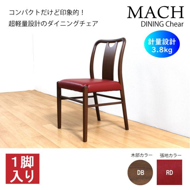 【LC-ライトチェア-】Mach-マッハ- ダイニングチェア 1脚入り 木製 肘無し アームレスチェア PVC 軽量 シンプル お手入れ簡単 送料無料