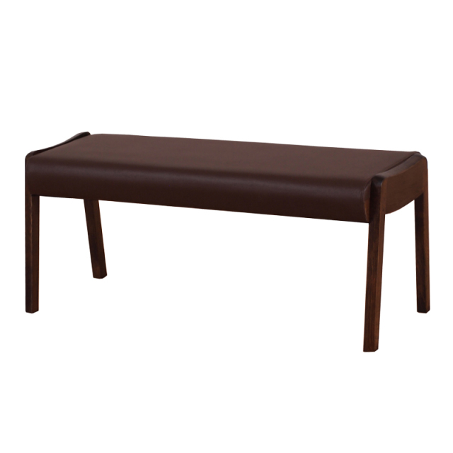 NamikiDB-ナミキベンチ 木製 ラバーウッド材 ダークブラウン PVC ダークブラウン 数量限定 送料無料