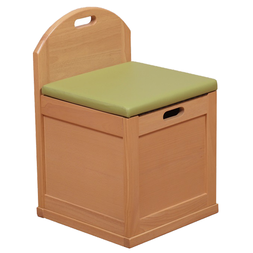ハコイス 収納付き椅子 木製 ナチュラル アウトレット 完成品 数量限定 送料無料