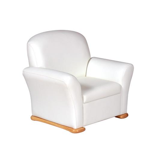 Tulip-チューリップ- 子供用ソファー 木製  肘付き ホワイト アウトレット 数量限定 送料無料
