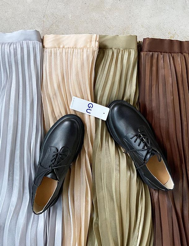 【イタフラバーゲン】2/8日インスタ投稿!入荷待ち多数!★春トク★ 『 前作バズって入荷待ち多数で締め切ったあの大人カラーが魅力のプリーツスカート・・・ 』 程よい光沢感が上品。シャイニーポプリンプリーツスカート