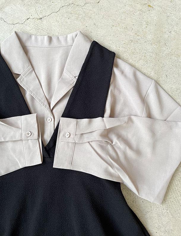 ≪9月中旬入荷予定/着日指定不可≫マニッシュな印象の大人っぽシャツ!コンパクト丈長袖開襟シャツ