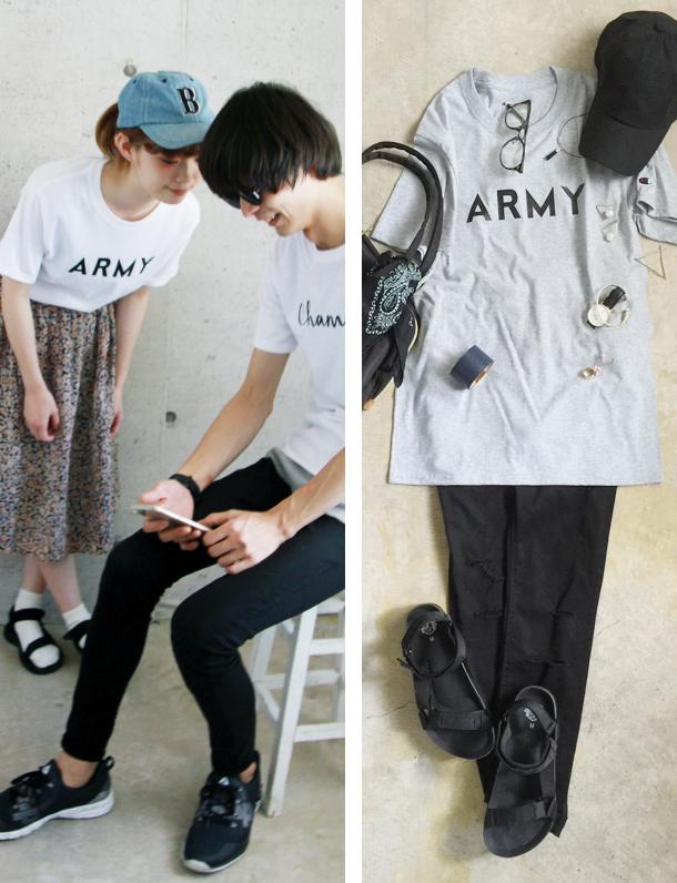 ☆殿堂☆ チャンポンの次は 『 ARMY 』 USAチャンピオンボディー使用 CHAMPIONメンズTシャツ。