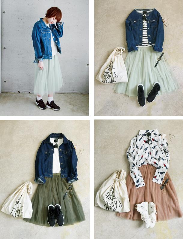 『 春色×丈感、最強 』 間違いないチュールスカート発売。チュール3枚仕立てのこだわりデザイン。