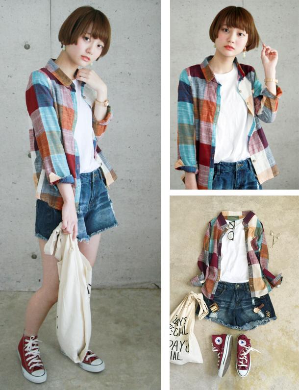<冬本番sale> ★秋の人気服★ 【超人気】 【品薄】 『 new!かぶらない 』 秋色カラー+淡色のブロックチェックシャツが劇的可愛い。高いだけあって風合いも魅力的。