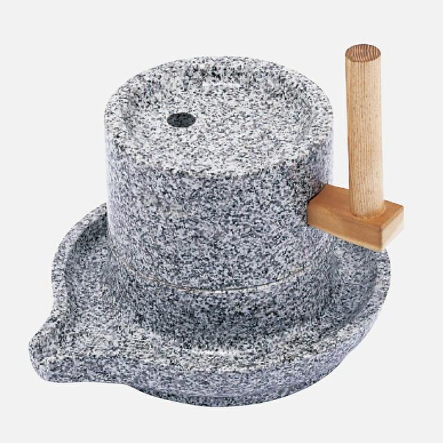 石臼 (そば製粉機)臼径210mm : A-1095<豊稔企販>