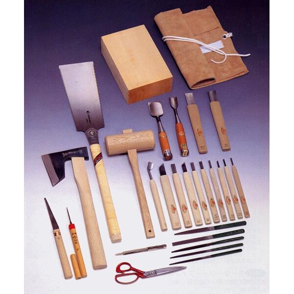 【送料、代引手数料無料】 三木章刃物本舗 面打ち用 彫刻刀 用材セット 140531