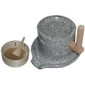 【送料、代引手数料無料】 石臼 セット(製粉機) :臼径210mm  A-1097