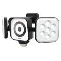 RITEX LEDセンサーライト防犯カメラ付 8W×2灯 100Wフリーアーム式:C-AC8160<ライテックス・ムサシ>