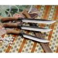 【送料、代引手数料無料】 関兼常作 関伝古式和鉄製錬鬼神狩猟刀匠・両刃 270ミリ CW-18