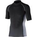 おたふく 冷感・消臭パワーストレッチ半袖ハイネックシャツ ブラック:JW-624  <おたふく手袋>