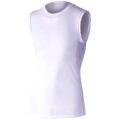 おたふく 冷感・消臭パワーストレッチノースリーブクルーネックシャツ ホワイト :JW-627<おたふく手袋>