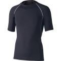 おたふく 冷感・消臭パワーストレッチ半袖クルーネックシャツ ブラック :JW-628<おたふく手袋>