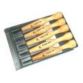 三木章刃物本舗 パワーグリップ彫刻刀セット グレープラスチックケース 5本組:#800053