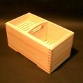 木曽ひのき(檜)手造り木製手付き石けん箱(中)