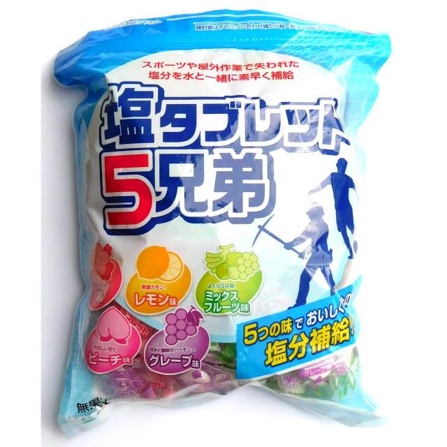 熱中症対策塩飴「塩タブレット5兄弟」 530g入り<ランドアート>