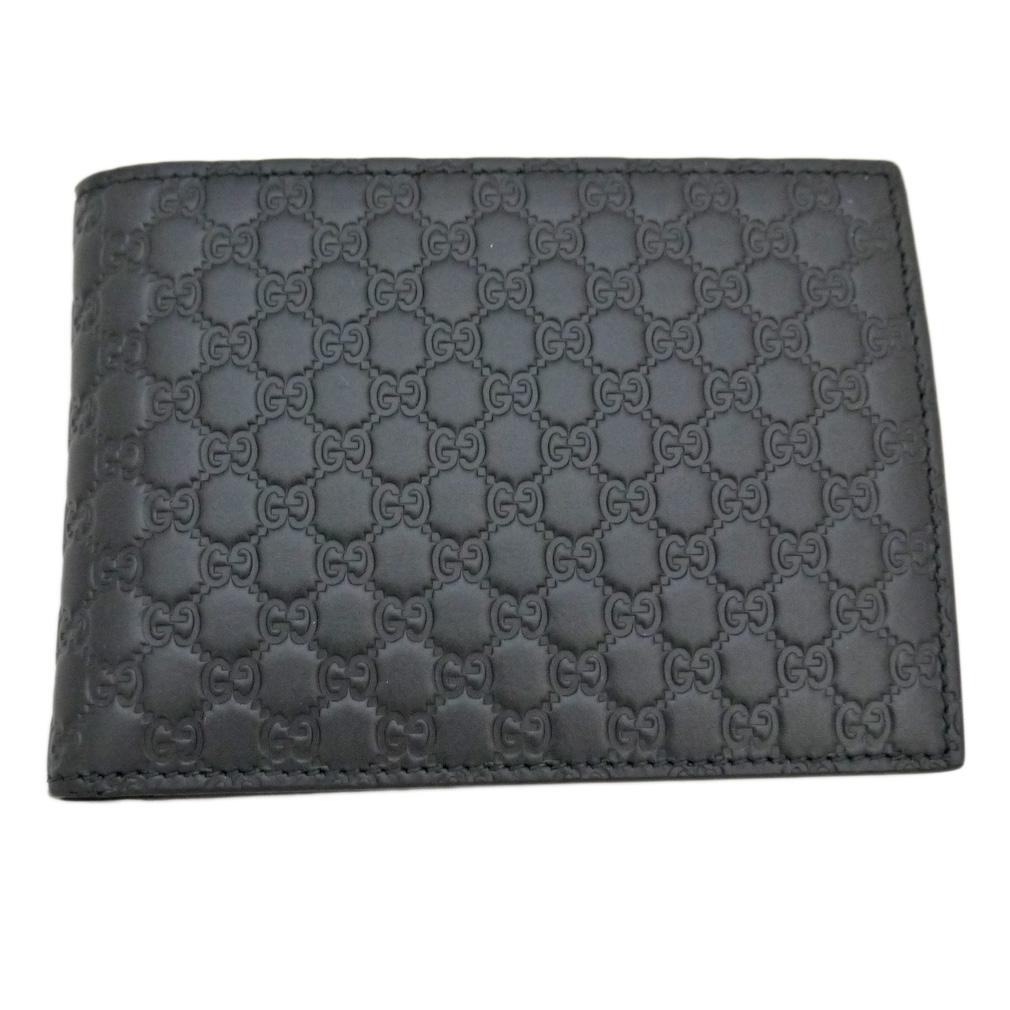 グッチ メンズ GGシグネチャーレザー 二つ折り財布 コインケース付 黒 GUCCI