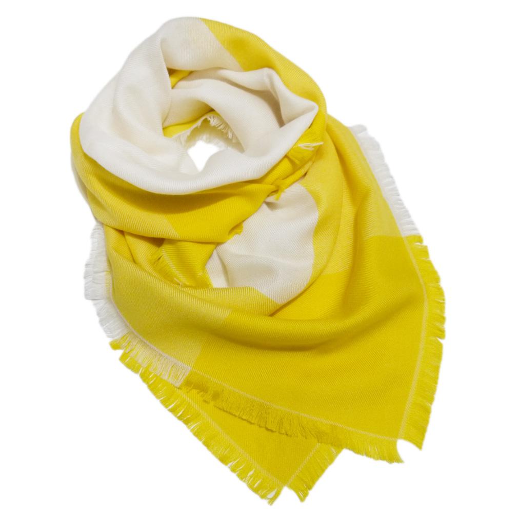 ロロピアーナ カシミア×シルク バイカラー スカーフ 黄色 Loro Piana