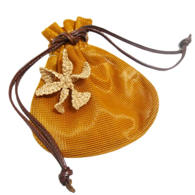 マルニ メッシュ 巾着ポーチ オレンジ MARNI