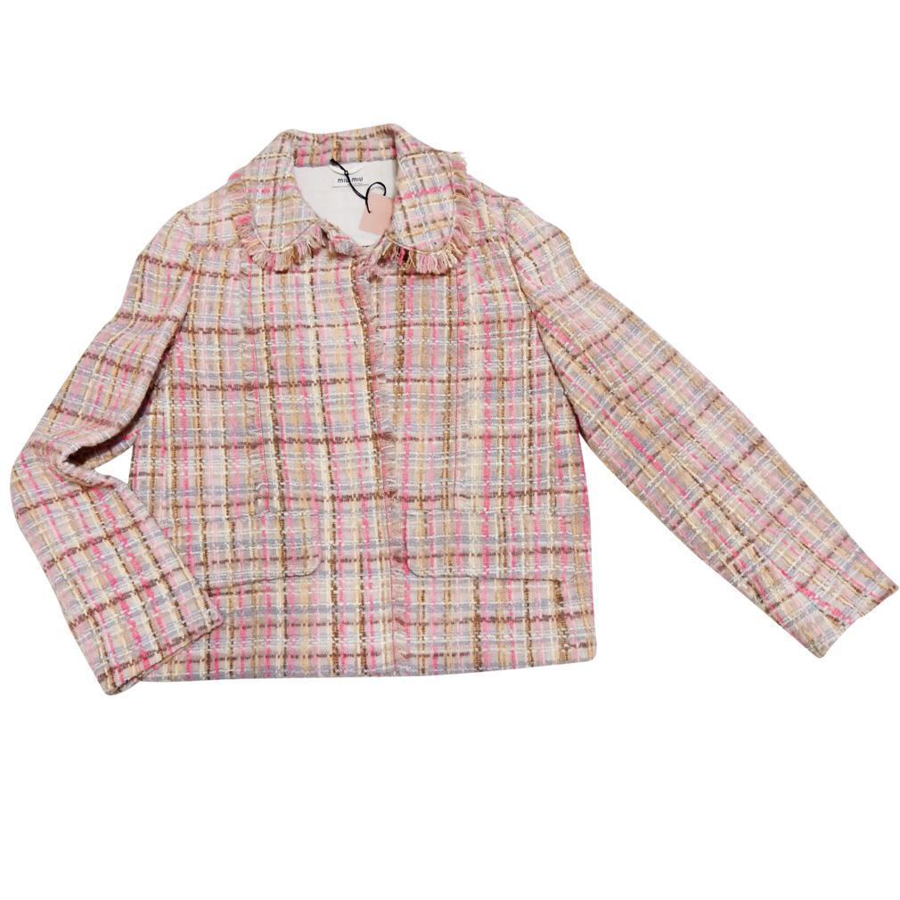 ミュウミュウ ツイードジャケット ピンク #38 miu miu
