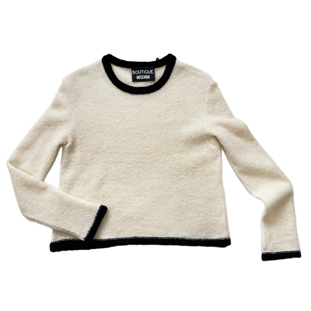 モスキーノ もこもこセーター 白 #40 MOSCHINO