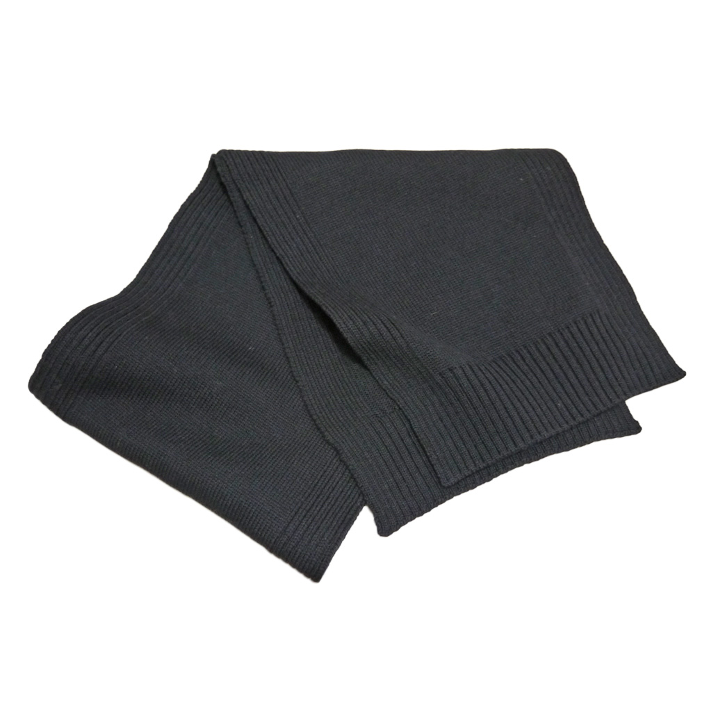プラダ メンズ ウール100% ニットマフラー 黒 PRADA