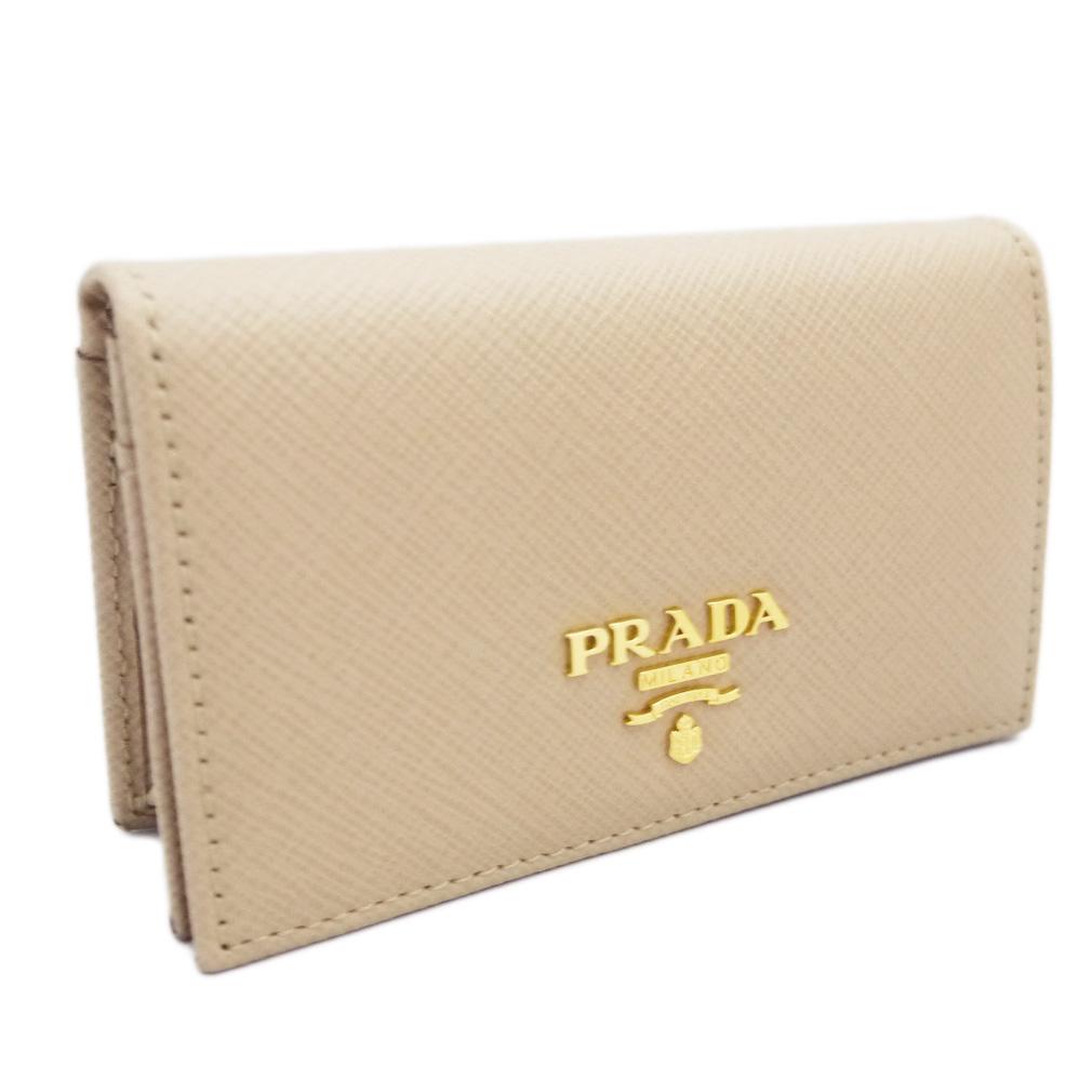 プラダ サフィアーノレザー カードケース ベージュ(SABBIA) 1MC122 PRADA