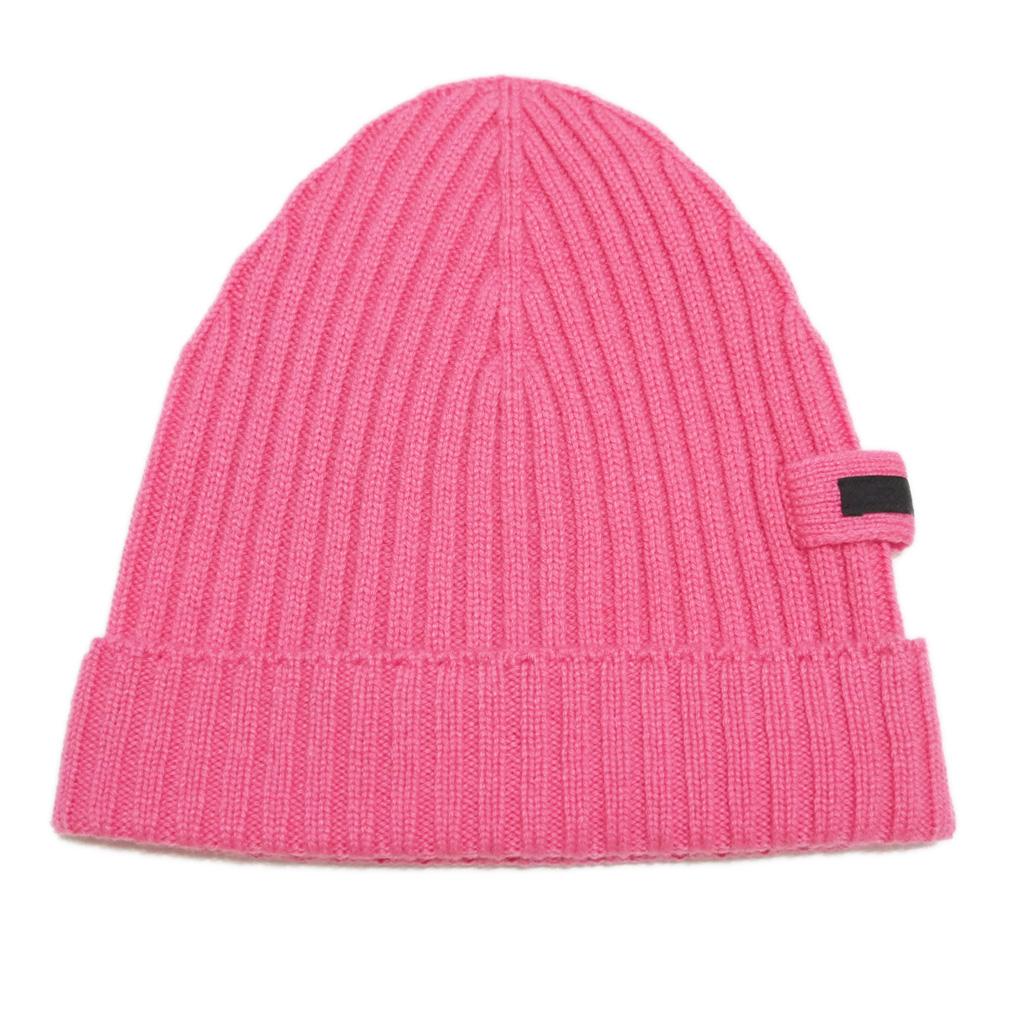 プラダ カシミア100% リヴニット帽子 ピンク(ROSA) PRADA