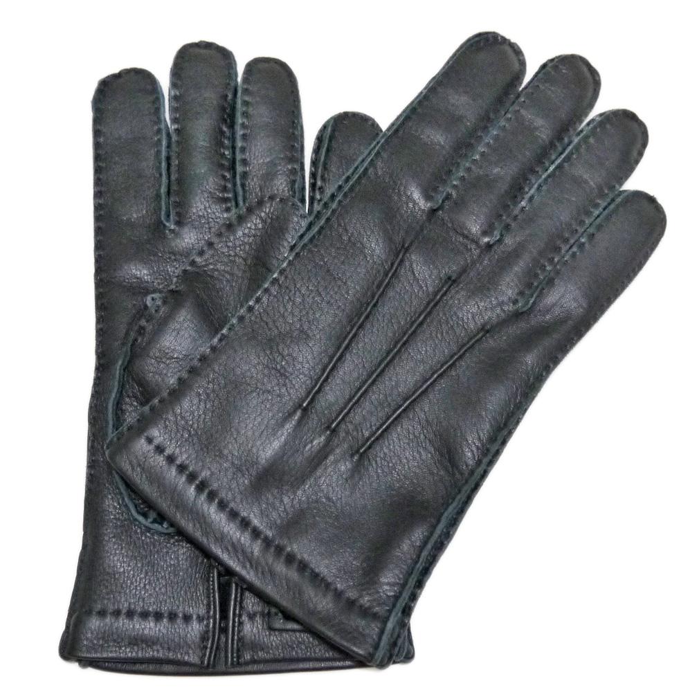 プラダ メンズ  鹿革手袋(レザーブローブ) 黒 #8.5#9 PRADA