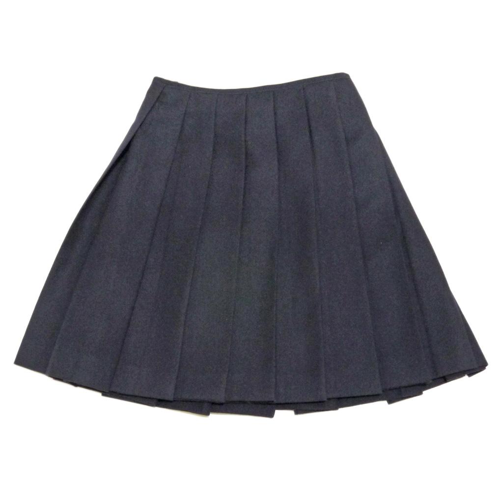 プラダ プリーツスカート 濃紺 #40 PRADA