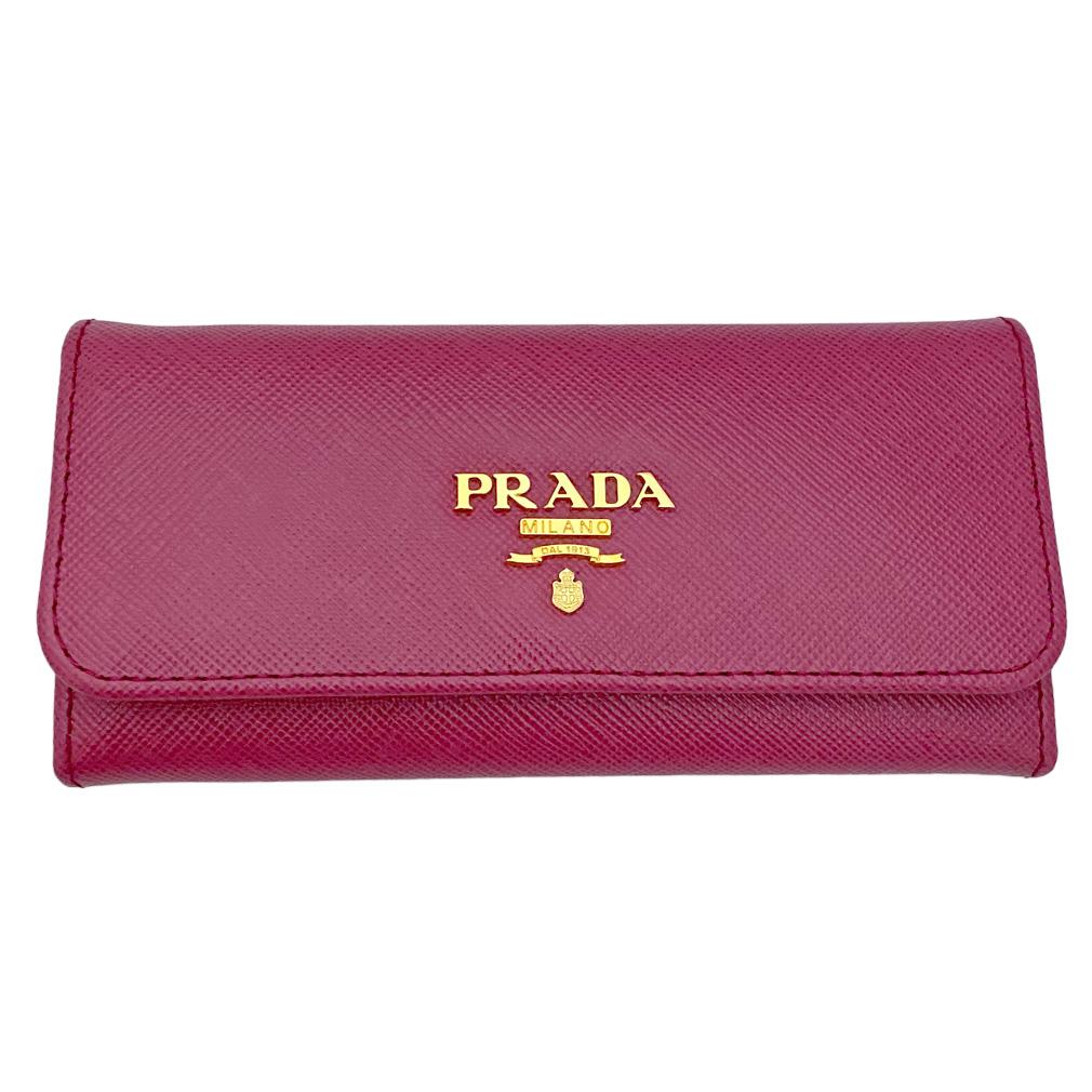 プラダ サフィアーノレザー ロングキーケース ピンク(IBISCO)   1M0223 PRADA