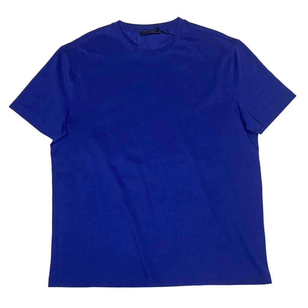 プラダ メンズ  クルーネックTシャツ 青 #M  PRADA